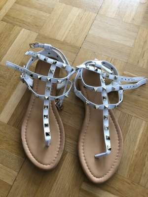 Roman Sandals white-gold-colored