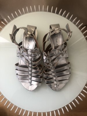 Viva la Diva Roman Sandals silver-colored