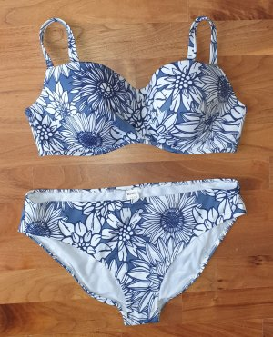 Rösch Bikini blanc-bleu acier