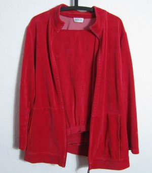Leisure suit red cotton
