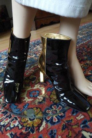 Roger vivier Wysokie buty na obcasie czarny-złoto