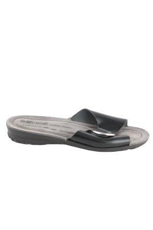 Rohde Pantoffeln schwarz Casual-Look