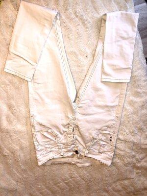 Spodnie rurki kremowy