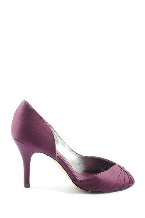 Roland Cartier Tacones con punta abierta lila elegante