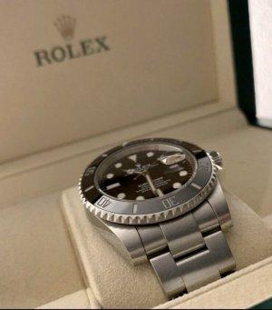 Rolex Orologio con cinturino di metallo grigio-nero