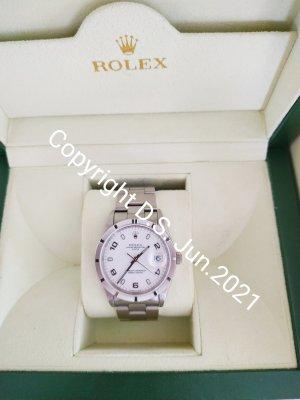 Rolex Orologio con cinturino di metallo bianco-argento Metallo