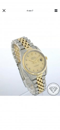 Rolex Analog Watch gold-colored-silver-colored