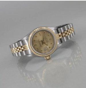 Rolex Reloj automático color plata-marrón arena