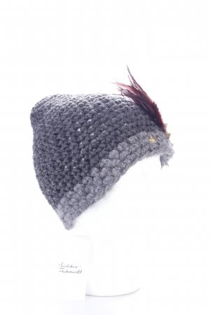 Rolise Knitted Hat anthracite-grey Badge Application