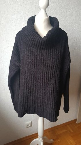 Zalando Turtleneck Sweater black wool