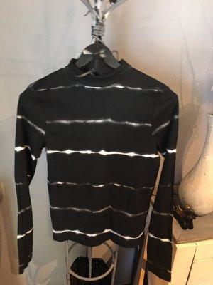 Rainbow Turtleneck Sweater black-white