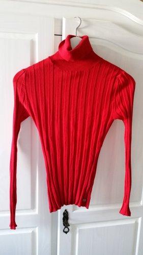 Apart Sweter z golfem czerwony