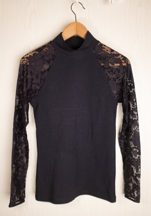 keine Marke Turtleneck Shirt dark blue