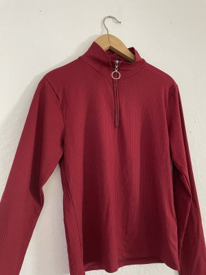 Turtleneck Shirt dark red