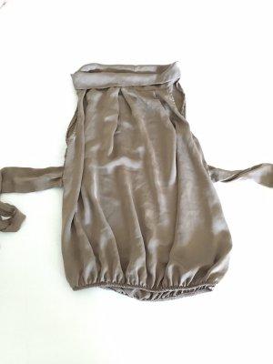 Jedwabna bluzka szaro-brązowy