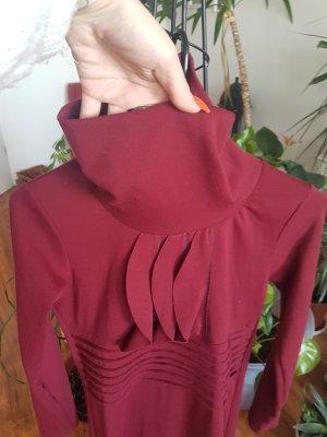 A CAPELLA Vestido de cuero carmín