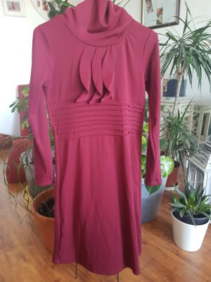 A CAPELLA Robe en cuir rouge carmin