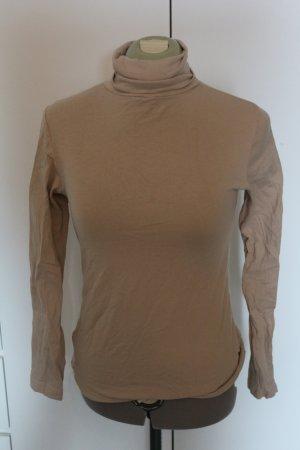Esmara Camisa de cuello de tortuga marrón arena Algodón