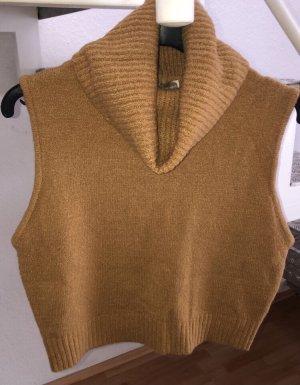 Forever 21 Crochet Top sand brown mixture fibre