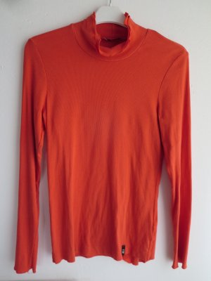 Lilienfels Turtleneck Shirt orange cotton