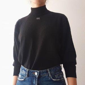Pierre Cardin Jersey de cuello alto negro