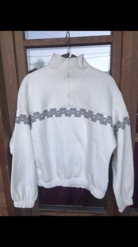 Amisu Turtleneck Sweater white-black