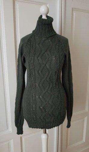 Handmade Turtleneck Sweater multicolored cashmere
