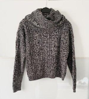 Rollkragen Pullover grau weiß gr. S