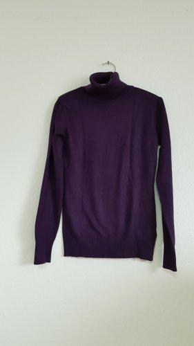 Rollkragen Pullover lila M