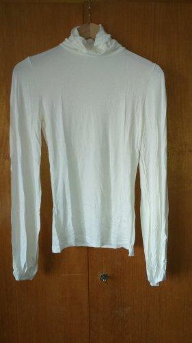 3 Suisses Jersey de cuello alto blanco puro Viscosa