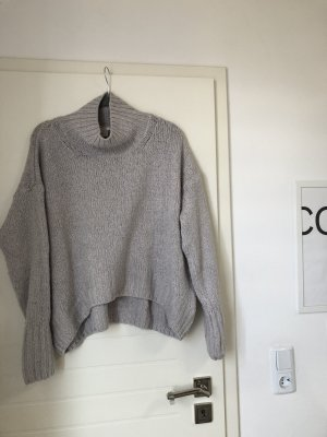 H&M Turtleneck Sweater light grey-grey