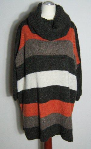 Rollkragen Pullover Pullunder Größe L Blockstreifen