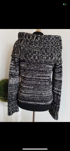 Rollkragen Pullover Turnover Größe  S schwarz weiß