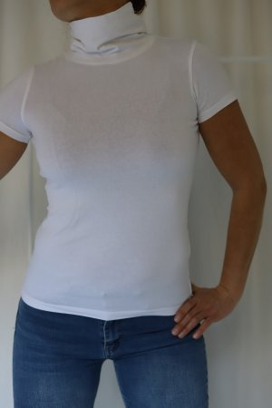 okay Turtleneck Shirt white cotton