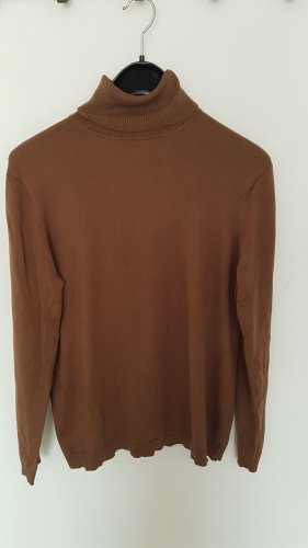 Cassani Camisa de cuello de tortuga color bronce