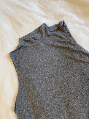 H&M Basic Koszulka z golfem szary