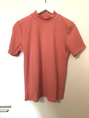 Rollkragen Shirt Gr. M orange