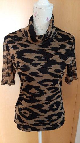 Apart Turtleneck Shirt black-bronze-colored polyester
