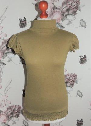 Rollkragen Shirt mit kurzen Ärmeln von Venca grün Größe 34/36