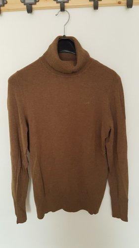 QS by s.Oliver Camisa de cuello de tortuga marrón grisáceo