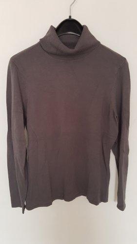 Luc.8 Camisa de cuello de tortuga marrón