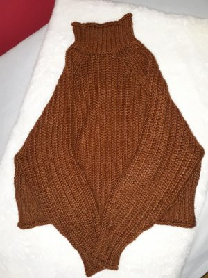 H&M Knitted Sweater cognac-coloured
