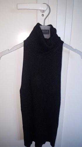 Mango Suit Neckholder Top black-silver-colored
