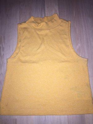 H&M Top con colletto arrotolato giallo-oro-arancione chiaro