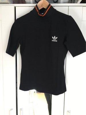 Adidas Colshirt zwart-oranje