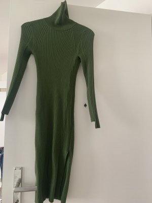 Zara Vestido tipo jersey verde oscuro-verde oliva