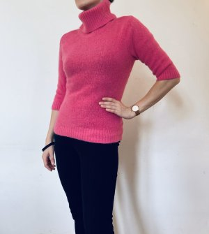 Hennes Collection by H&M Maglione dolcevita rosa-viola Lana d'angora