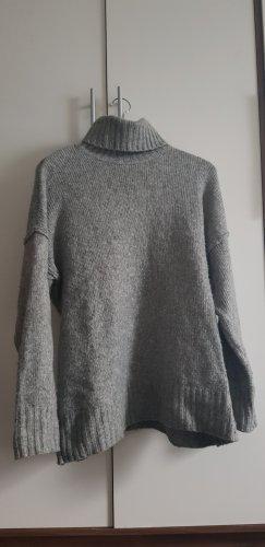 H&M Camisa de cuello de tortuga gris claro-gris