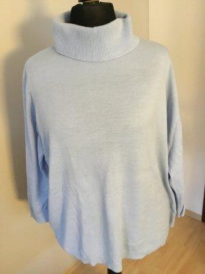 Turtleneck Sweater azure polyacrylic