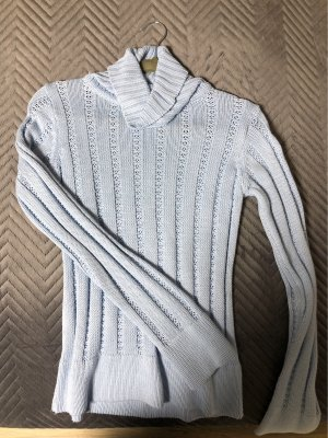 Basic Line Sweter z golfem błękitny